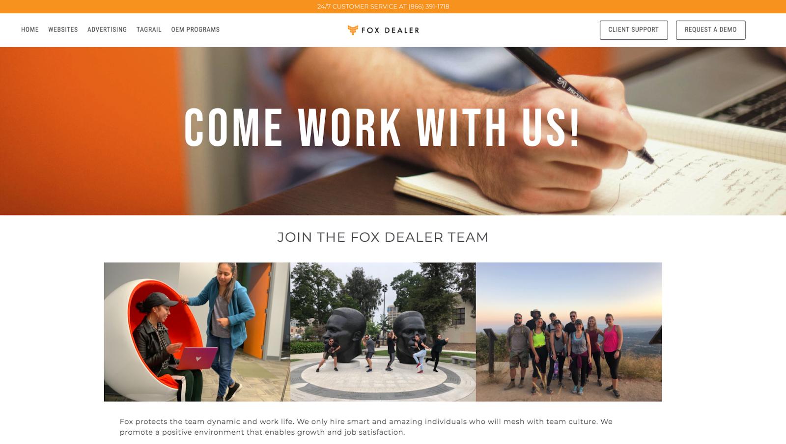 Fox Dealer Career Page