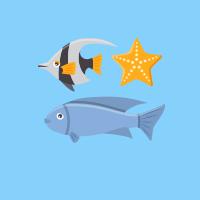 fish diving image